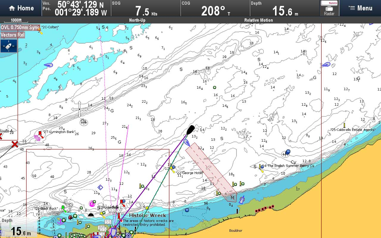 AIS Predicted Area of Danger | Raymarine by FLIR