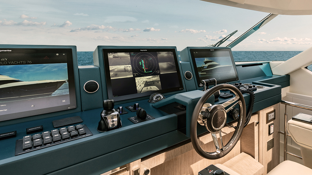 Monte Carlo Sky Lounge 76 with DockSense | Marine Electronics by Raymarine