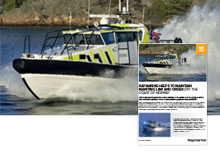 Raymarine Helps to Maintain Maritime Law and Order Off the Coast of Norway | Marine Electronics by Raymarine