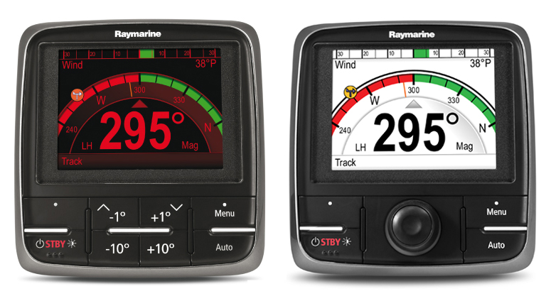 p70 and p70R Autopilot Control Heads | Raymarine