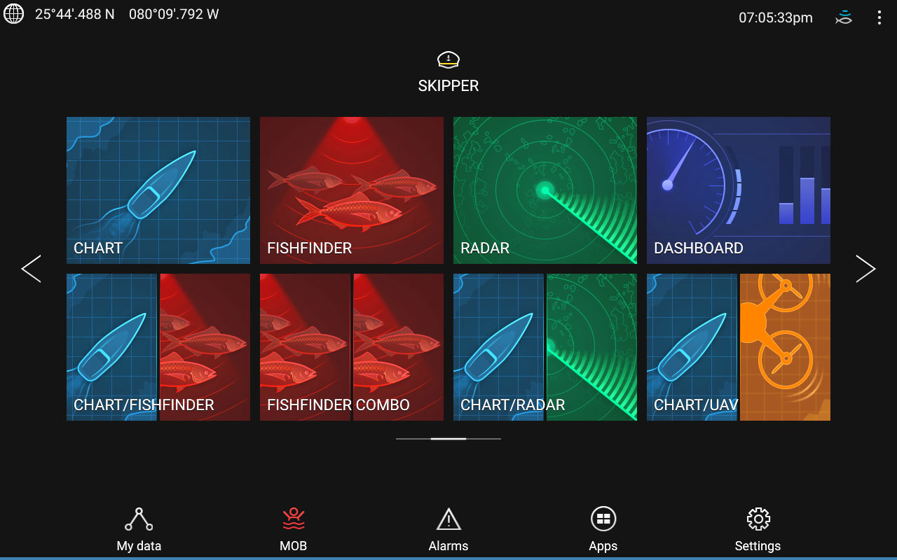 Axiom UAV - LightHouse 3.6 Homescreen | Raymarine - A Brand by FLIR