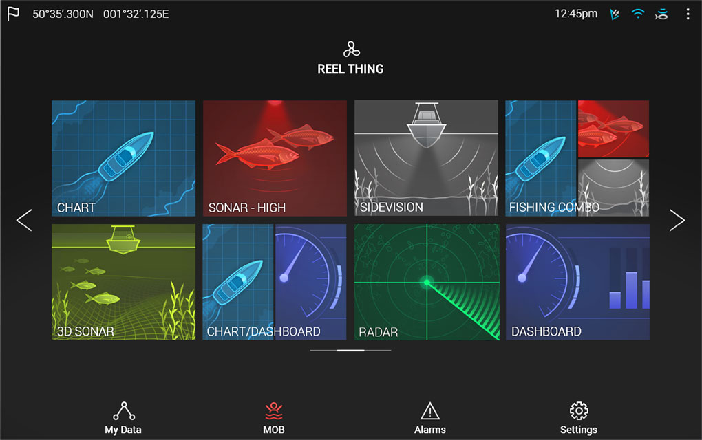 LightHouse 3 Home Screen | Raymarine by FLIR