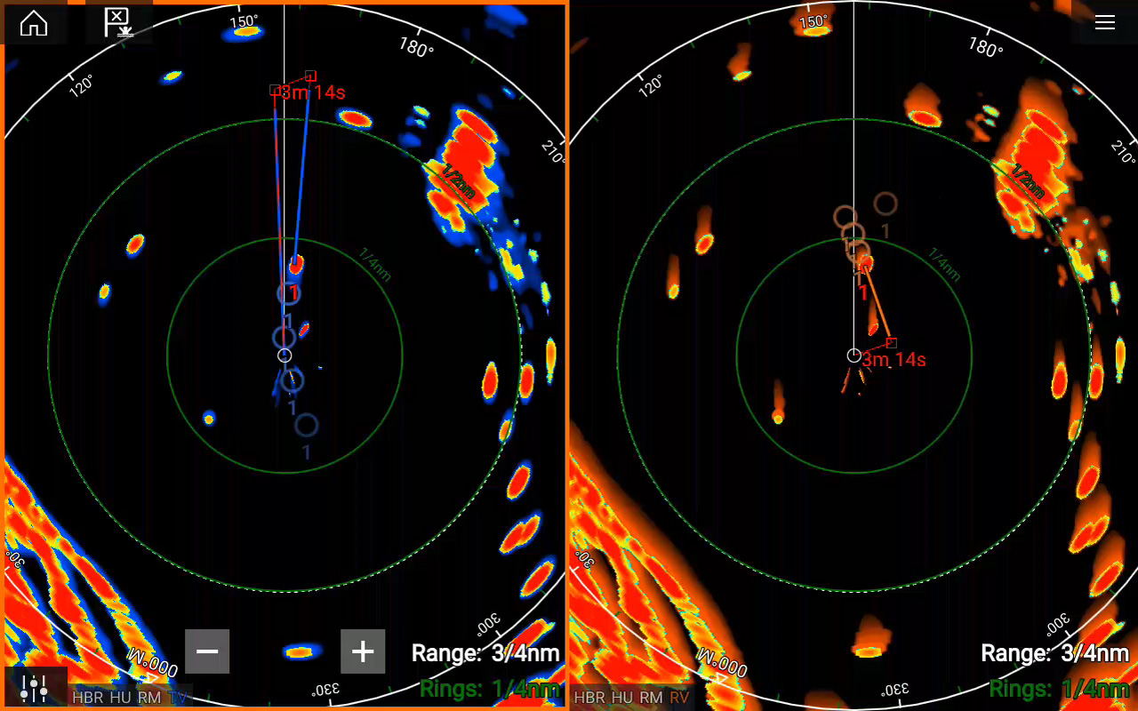 Marine Radar Key Features - Target True Trails | Raymarine - A Brand by FLIR