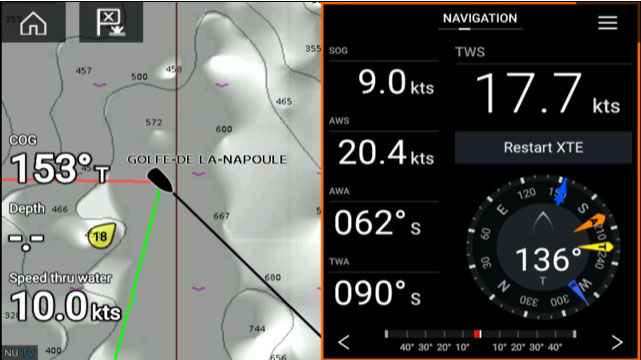 Annapolis 3.9 - Live Layline Display | Raymarine - A Brand by FLIR