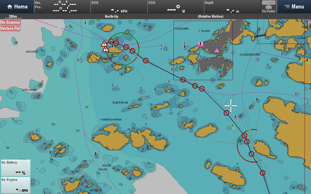 Added warnings | Raymarine by FLIR