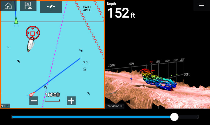 LightHouse 3.1 3D-routebepaling | Raymarine van FLIR