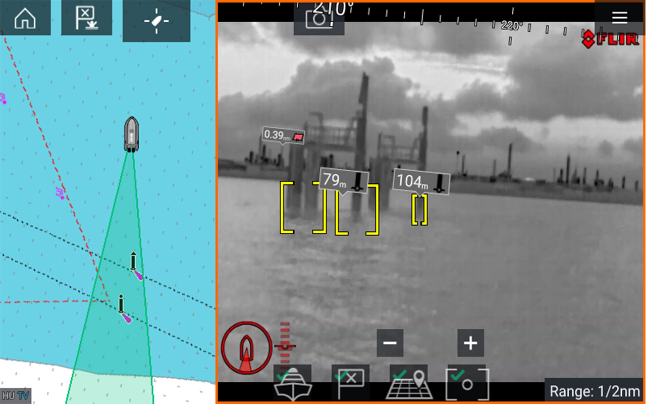 LightHouse 3.9 software-update - ClearCruise Augmented Reality voor warmtebeeldcamera's | Raymarine - een merk van FLIR