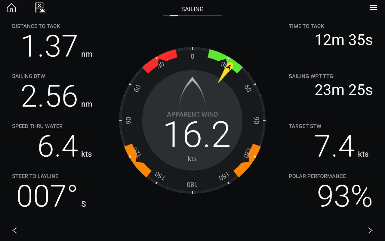 LightHouse 3.9 software-update - dashboard-app en zeilwijzers | Raymarine - een merk van FLIR