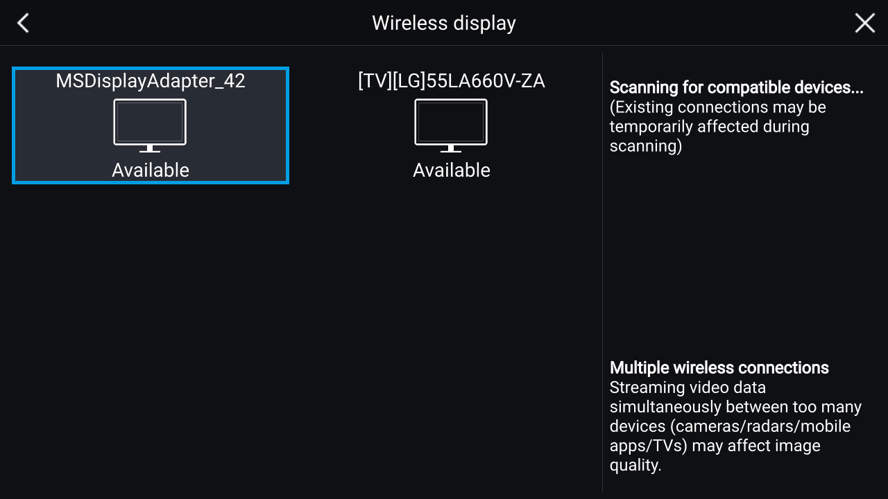LightHouse 3.2 - draadloze display (Miracast) | Raymarine van FLIR